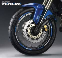 Yamaha XTZ 750 or 1200 blue rim stickers set