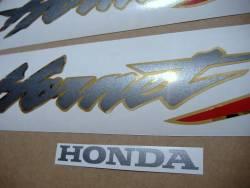 Honda Hornet 600S 2003 black reproduction emblems logo set