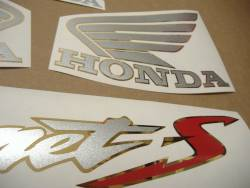 Honda Hornet S 600 2002 blue replica decal set