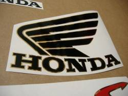Honda Hornet S 2003 silver grey replacement sticker set