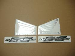 Honda NC750X 2015 silver grey restoration decals set