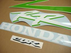 Honda CBR 954RR Fireblade sc50 custom lime green decals