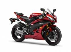 Yamaha R6 2007 2CO wine-red full decals kit