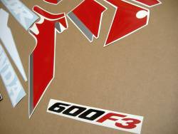 Honda CBR 600f F3 1997-1998 replacement stickers