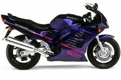 Suzuki RF 900R 1995 purple complete replacement decal kit