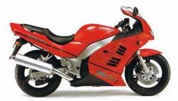 Suzuki RF 600R 1997-1998 red full replacement sticker set