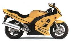 Suzuki RF 600R 1994-1995 yellow full replacement sticker set
