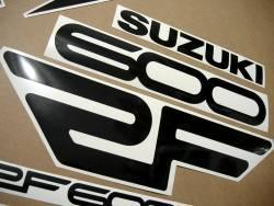 Suzuki RF 600R 1994-1995 yellow replacement adhesives set