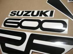 Suzuki RF 600R 1994-1995 yellow complete stickers kit
