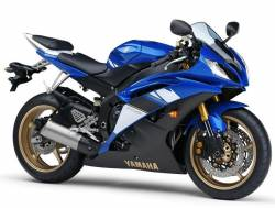 Yamaha YZF R6 2008 13S blue stickers kit