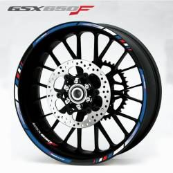 Suzuki GSX-F 650 blue wheel lines decals/graphics