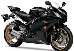 Yamaha R6 2009 RJ15 black labels graphics