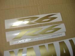 Yamaha R6 2009 13S black full decals kit