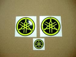 Fluorescent yellow 3d gel emblems for Yamaha R1/R6