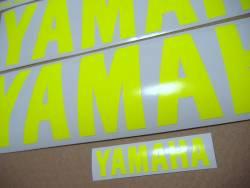 Yamaha R1 5pw rn09 2002 neon signal yellow decals