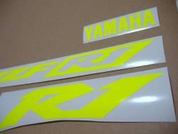 Yamaha R1 5pw rn09 fluorescent yellow stickers set
