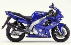 Yamaha YZF-600R 2001 Thundercat blue stickers set