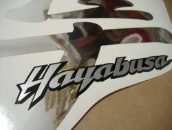 Suzuki Hayabusa 2001 custom chrome mirror silver graphics