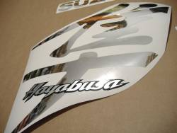 Suzuki Hayabusa 2000 custom chrome mirror silver sticker kit