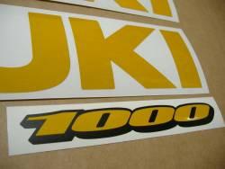 Suzuki GSXR 1000 gixxer signal reflective yellow stickers kit
