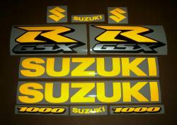 Suzuki GSX-R 1000 gixxer signal reflective yellow decals set