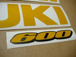 Suzuki GSX-R 600 srad signal reflective yellow decals set