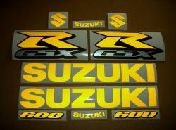 Suzuki GSX-R 600 srad signal reflective yellow stickers kit