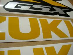 Suzuki GSX-R 600 srad light reflective yellow graphics