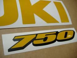 Suzuki GSXR 750 srad signal reflective yellow decals set