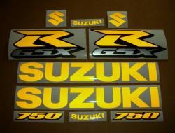 Suzuki GSXR 750 srad signal reflective yellow stickers kit