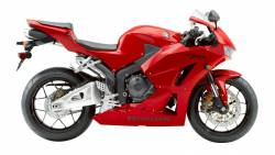 Honda CBR 600RR 2015 red replacement decals