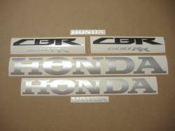 Honda CBR 600RR 2014 black replacement decal set