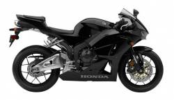 Honda CBR 600RR 2015 black replacement decals