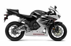 Honda CBR 600RR 2016 white/black adhesives set
