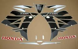 Honda CBR 600RR 2016 white/black abs decal kit