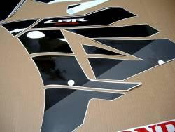 Honda CBR 600RR 2016 white/black logo emblems set