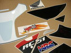 Honda RVT/VTR RC51 2004 Hayden edition replacement decals