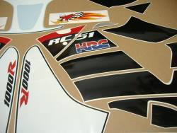 Honda RVT1000R 2004 Nicky Hayden edition replica stickers set