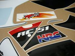Honda RVT/VTR RC51 Hayden edition replacement stickers set