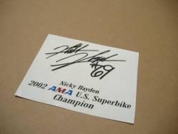 Honda-RVT/VTR 1000 hayden replica signature logo decals