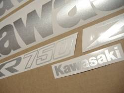 Kawasaki ZXR 750R Ninja 1993-1994 red stickers kit