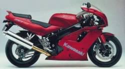 Kawasaki ZXR750 Ninja 1993 wine red decals set