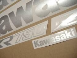 Kawasaki ZXR750 1993-1994 blue reproduction graphics