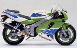 Kawasaki ZXR750R Ninja 1994 green/white/blue reproduction decals