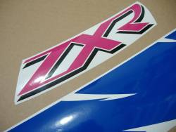 Kawasaki ZXR750R Ninja 1994 green/white/blue replacement stickers