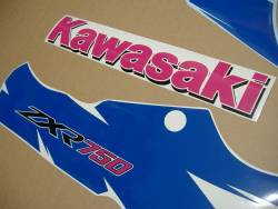 Kawasaki ZXR 750R Ninja 1994 green/white/blue replacement decals
