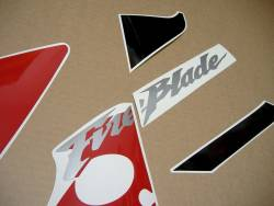 Honda CBR 954 RR 2003 red/black restoration decals