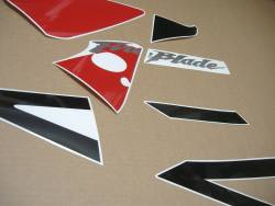 Honda CBR 954 RR 2003 red/black replacement decals set
