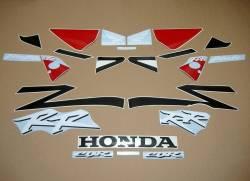 Honda 954rr Fireblade  2003 black/red replica decal kit