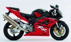 Honda 954rr Fireblade  2003 black/red replica adhesives set